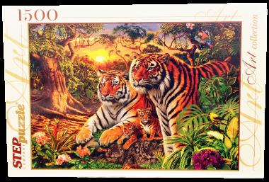 Пазл Сколько тигров