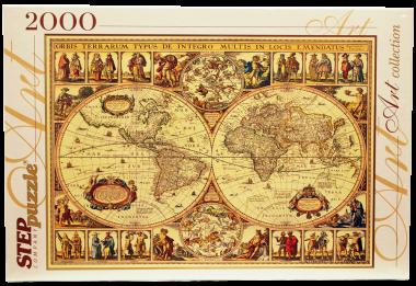 Пазл «Историческая карта мира»