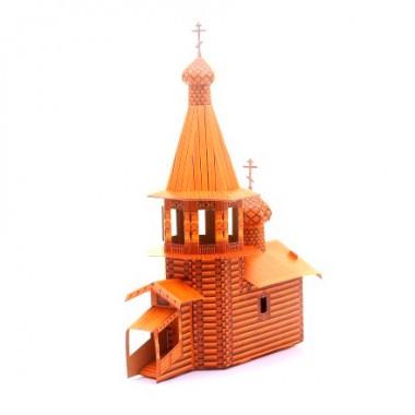 Модель Церковь деревянная Умная бумага