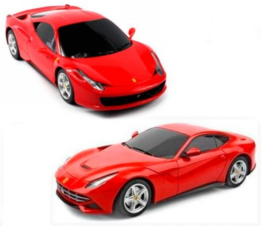 Набор Ferrari 458 challenge +  Ferrari F12 1:24 р/у машины