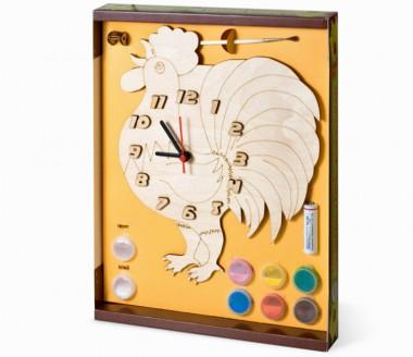 Часы Петух с красками