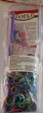 Набор плетение из резиночек  (500 рез, 1 крючок,1 станок)