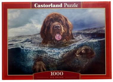Пазл Пес в воде Castorland