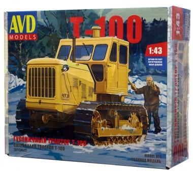 сборная модель трактор Т-100 1:43