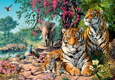 Пазл «Тигры» 1500 элементов