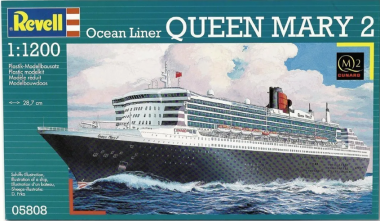 Лайнер Queen Mary 2 1:1200
