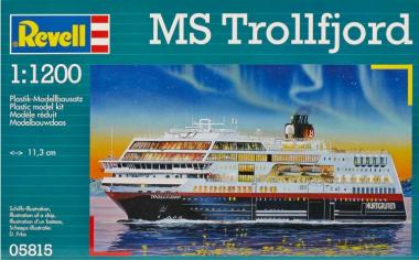 Круизный лайнер MS Trollfjord 1:1200