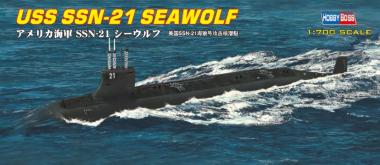 Подводная лодка USS SSN-21 SEAWOLF ATTACK SUBMARINE 1:700