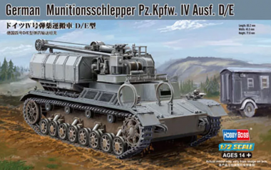 German Munitionsschlepper Pz.Kpfw.IV Ausf.D/E 1:72