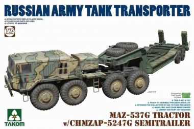MAZ-537G TRACTOR w/CHMZAP-5247G SEMITRRAILER 1:72