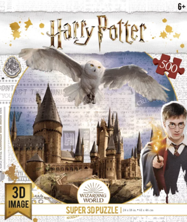 Пазл Super 3D Harry Potter «Harry Potter. Хогвартс и Букля» 500 элементов