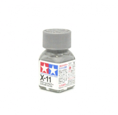 X-11 Chrome Silver metallic, эмаль. (Хром-Серебро, металлик)
