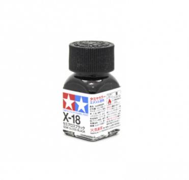 X-18 Semi-Gloss Black, эмаль. (Чёрный полуматовый)