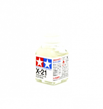 X-21 Flat Base, 10 ml. (Матовая Основа для эмалевых красок бесцветная)