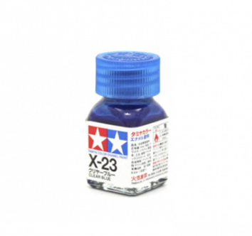 X-23 Clear Blue gloss, эмаль.(Голубой прозрачный глянцевый)