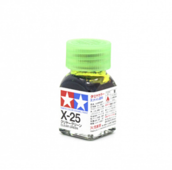 X-25 Clear Green gloss, эмаль. (Зелёный прозрачный глянцевый)
