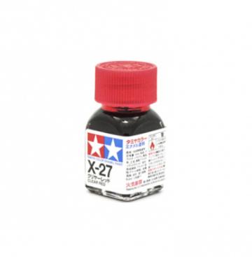 X-27 Clear Red gloss, эмаль.(Красный прозрачный глянцевый)