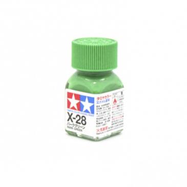 X-28 Park Green gloss, эмаль.(Травянистый зелёный глянцевый)