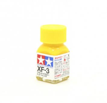 XF-3 Flat Yellow, эмаль. (Жёлтый Матовый, краска эмалевая 10 мл.)