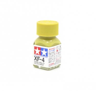 XF-4 Yellow Green flat, эмаль. (Жёлто-Зелёный матовый, краска эмаль 10 мл)