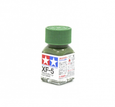 XF-5 Flat Green, эмаль. (Зелёный Матовый, краска эмалевая 10 мл.) Tamiya 80305