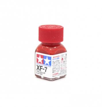 XF-7 Flat Red, эмаль. (Красный Матовый, краска эмалевая 10 мл.)