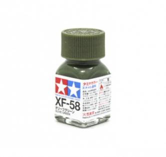 XF-58 Olive Green flat, эмаль. (Оливковый Зеленый матовый)