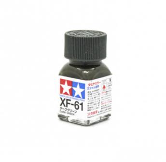 XF-61 Dark Green flat, эмаль. (Тёмный Зелёный матовый)