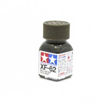 XF-62 Olive Drab flat, эмаль. (Оливковый Серо-Коричневый матовый)
