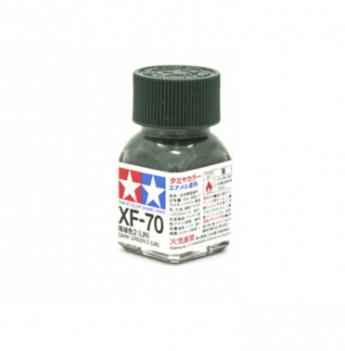 XF-70 Dark Green 2 flat, эмаль. (Тёмный Зелёный 2 матовый)