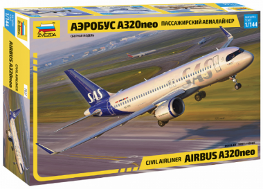 Пассажирский авиалайнер Аэробус А320neo 1:144