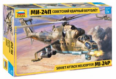 Советский ударный вертолёт Ми-24П 1:48