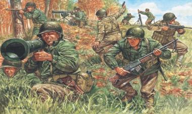 Солдаты WWII - AMERICAN INFANTRY 1:72