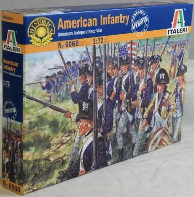 Солдаты AMERICAN INFANTRY (AM.INDEP.WARS 1776) 1:72