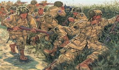 Солдаты WWII - US PARATROOPERS 1:72