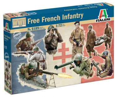 FREE FRENCH INFANTRY 1:72