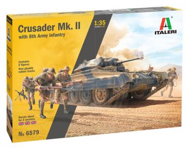 Танк Crusader Mk. II with 8th Army Infantry 1:35