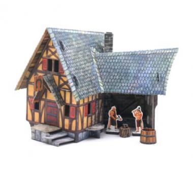 Сборная игрушка из картона Кузница