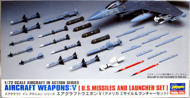 AIRCRAFT WEAPONS V : U.S. MISSILES AND LAUNCHER SET 1:72