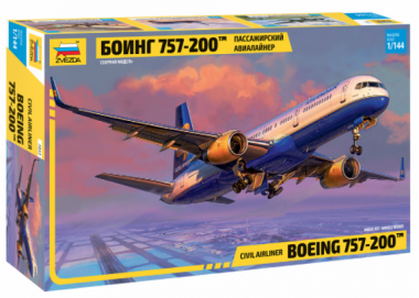 Пассажирский авиалайнер Боинг 757-200 1:144