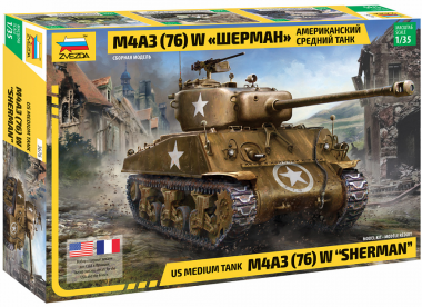 Танк М4А3 (76) W Шерман с 76-мм пушкой 1:35