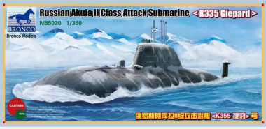 "Russian Akula II Class Attack Submarine ""K335 Giepard"" 1:350"