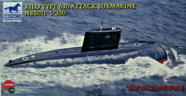 Kilo Type 636 Attack Submarine 1:350