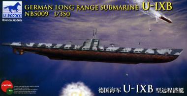 German Long Range Submarine Type U-IX B 1:350