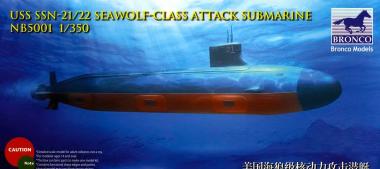 USS SSN-21/22 Seawolf-class Attack submarine 1:350