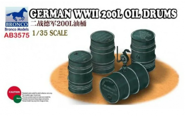 German WWII 200L Oil Drums 1:35