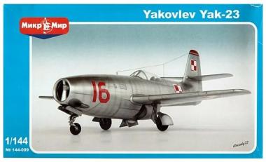 Самолет Як-23 1:144