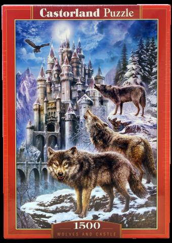 Пазл Волки и замок