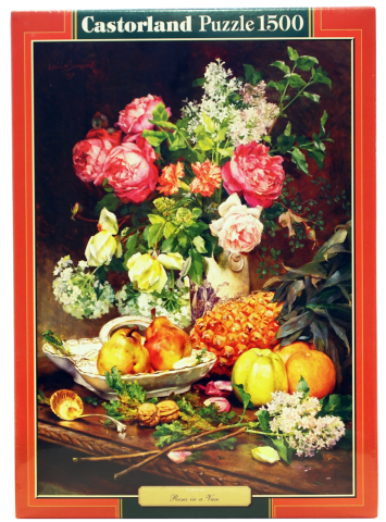 Пазл Розы в вазе