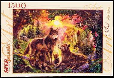 Пазл «Волки». Step Puzzle 1500